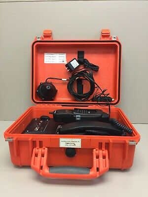 Globalstar Qualcomm GCK-1250 Satellite Phone Hands Free Car Kit In Pelican Case