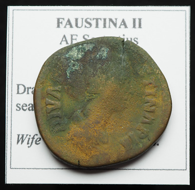 Faustina II the Younger AE Sestertius, Wife of Marcus Aurelius