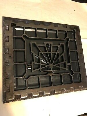 Antique Arts Craft Craftsman Deco Brass Plate Cast Iron Wall Heat Grate Register