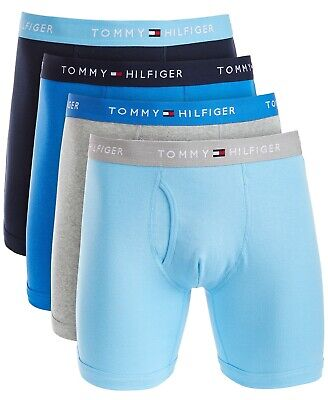 TOMMY HILFIGER 4 Boxer Briefs Mens Underwear Classic Cotton 4 Pack LIMITED EDIT.