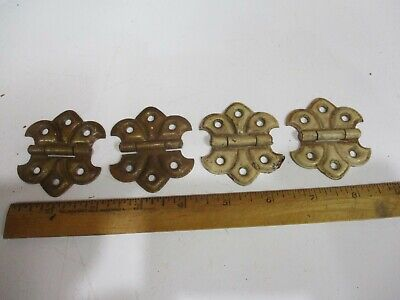 2 PAIR Vintage Antique Butterfly Flush Mount Hinges H410