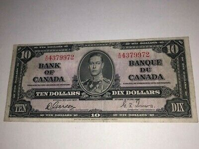 1937 Bank of Canada 10 Dollar Note -