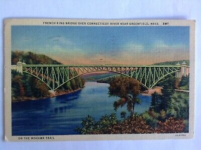 Greenfield Massachusetts~1933~French King Bridge~Connecticut River~Mohawk Trail