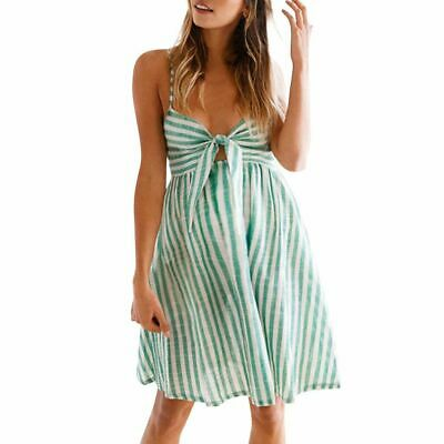 Women's Strapless Maternity Dress Sexy Striped Pregnant Clothes Bow Stylish Wear