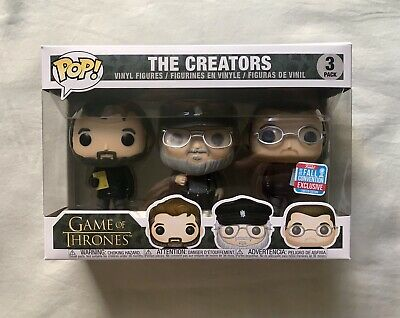 Game of Thrones FUNKO Pop! THE CREATORS 3 Pack NYCC Shared Fall Exclusive HBO