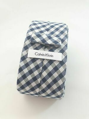 Calvin Klein Blue Black Men's Plaid Slim Business Neck Tie Aussie Seller