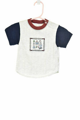 Carter's Boys Tops T-Shirts 3-6 MO Ivory Cotton