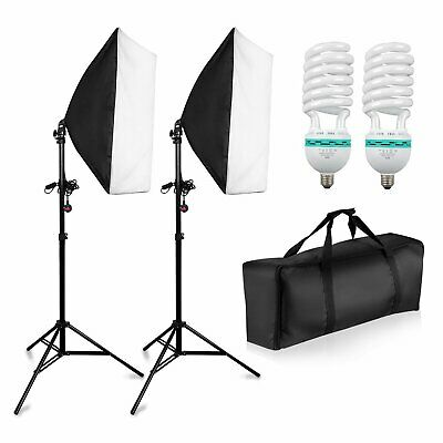 1350W Photo Studio Softbox Continuous Lighting Video Light Stand Kit 50x70cm