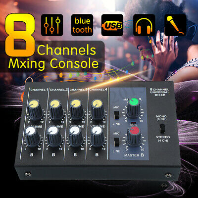 8 Channel Pro Live Studio Audio Sound Mixer USB Mixing DJ Console KTV R-X239