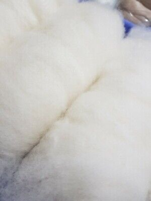 250gr White Lambs Wool Batts 1st Shearing  Spinning Felting Crafts