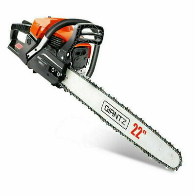 """GIANTZ Latest 62cc Petrol Commercial Chainsaw 22"""" Bar E-Start Chain Saw Pruning"""