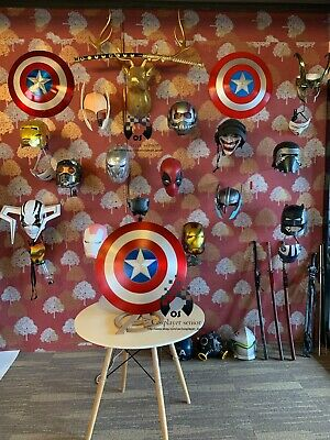 "38.5CM/15""  HARDWOOD STAND/BASE for Captain America Shield"