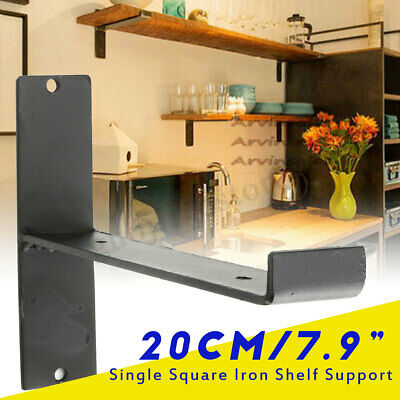 20cm Iron Shelf Support Retro Industrial Wall Shelves Single Bracket Square DIY
