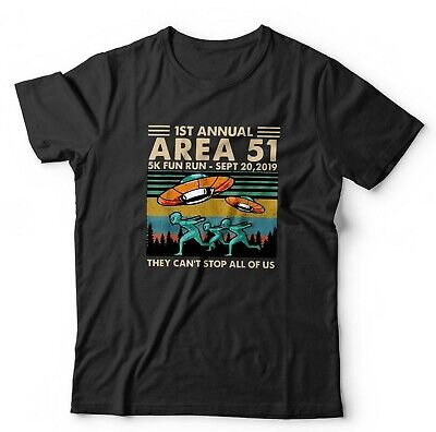 Area 51 Tshirt Unisex - Cant Stop Us All - Aliens Ancient. Large Sizes