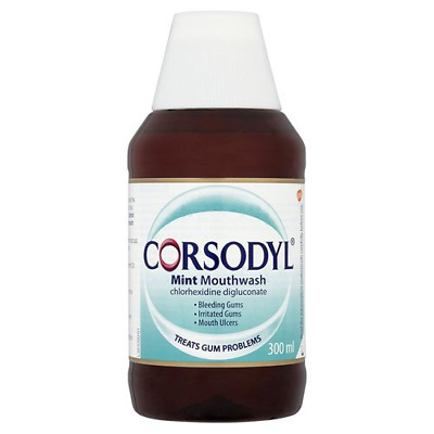 Corsodyl Mouthwash Mint, 300 ml, Pack of 3