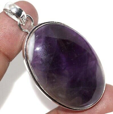 """E9887 Amethyst Lace 925 Sterling Silver Plated Pendant 2"""""""