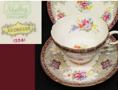Shelley 1940's cup saucer and plate