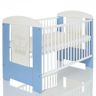 Baby Baby Bed Prince 120x60 Wood Cot Komplettzimmer Mattress White Lit