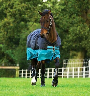 *CLEARANCE* Horseware Mio Lite Turnout - Black/Turquoise - All Sizes