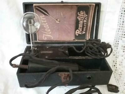Vintage  RENULIFE VIOLET RAY QUACKERY MACHINE BOOKLET CASE As Is 1920's