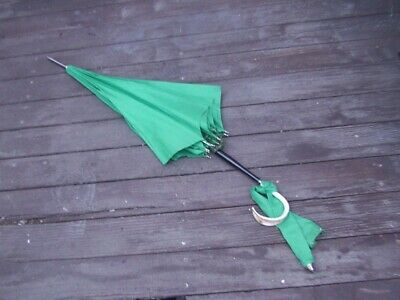 Vintage Umbrella Parasol with nice handle Old clothing accessory for rainy day