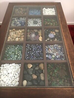 MOVING OVERSEAS SALE - Antique  Coffee Table - Wood & Glass