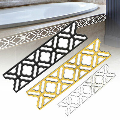 FT- 3D Charm Mirror Self Adhesive Waist Skirting Line Wall Sticker DIY Home Deco