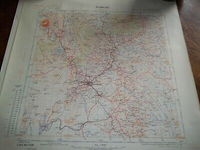 20 Vintage Metre Grid Maps Of East Africa. 1 : 500,000. 1949. Highly Detailed Sh