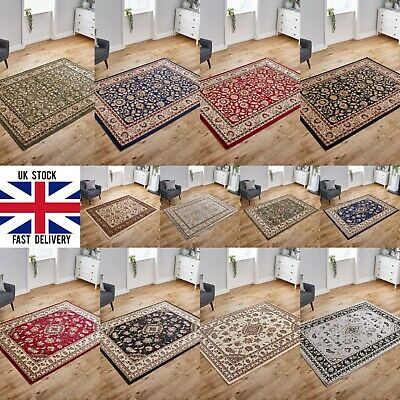 Small Extra Large Silver Grey Red Green Traditional Budget Area Rugs Runner Mat