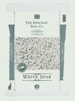 White Spar Chips Chippings Stone Aggregrate Weed Control Fabric & Pegs