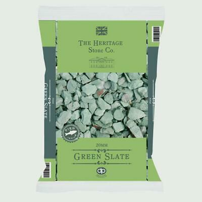 Green Slate Chips Chippings Garden Aggregate & Weed Control Fabric & Pegs