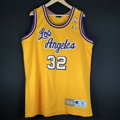 Champion Authentic Magic Johnson XL LAKERS NBA Trikot Basketball Jersey Jordan