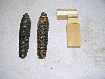 Clock  Parts , 2  Cuckoo Clock Weights+Bellows