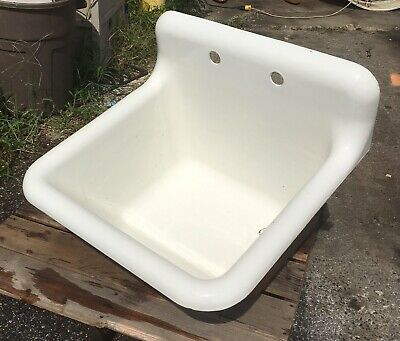 Vintage Cast Iron 1963 American Standard White Utilty Sink - Freight Shipping!