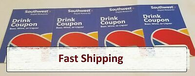 4 Southwest Airlines Drink Coupons (*Exp 4/30/2020*)