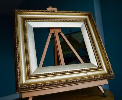 "Superb Antique Victorian Gilt & Gesso Picture Frame 11"" X 9"" *Rebate* Solid Pine"