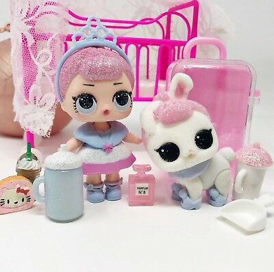 LOL Surprise Dolls CRYSTAL QUEEN & Pet CRYSTAL BUNNY Ultra Rare & Retired  * NEW