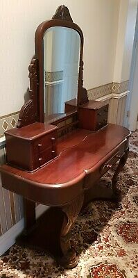 Antique Mahogany Dressing Table - Fully Restored