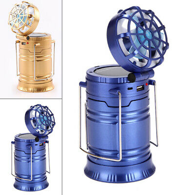 Fan Camping Light Multi-function Outdoor Solar Rechargeable Table Lamp