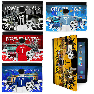 Kids Football iPad Air Case 1st & 2nd Gen Tablet Cover Personalised - ALL TEAMS