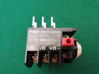 GEC   MTO 15/28A Overload Relay 2.2 - 3.3 Amp