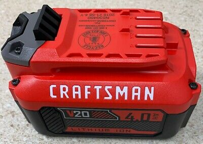 Craftsman ~ CMCB204 ~ 20v 4.0ah Battery Lithium Ion New ~ No Package ~