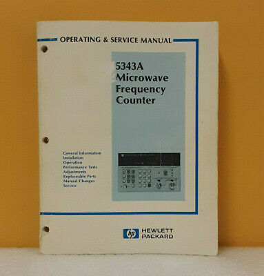 HP 05343-90007 5343A Microwave Frequency Counter Operating and Service Manual