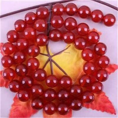 New 6mm Natural Red Ruby Gem Round Loose Bead 15'' ##QF281