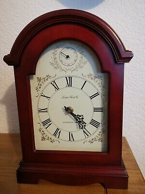 Modern 2 Quarts Movement Mahogany Bracket Clock Westminster working nice Dial