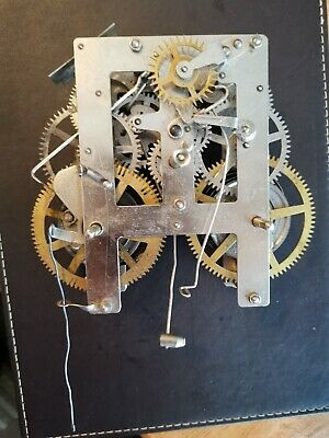 Antique American Wall Clock Movement  Circa 1920s Working very clean 8 day