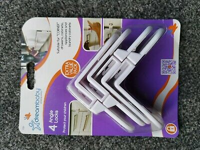 DreamBaby Extra Value Angle Cupboard Drawer Locks Baby Proofing Pack of 4