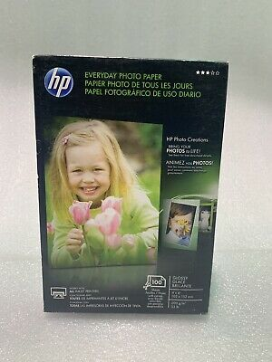 HP Everyday Photo Paper 4 x 6 100 sheets Semi-Gloss Q5440A - NEW