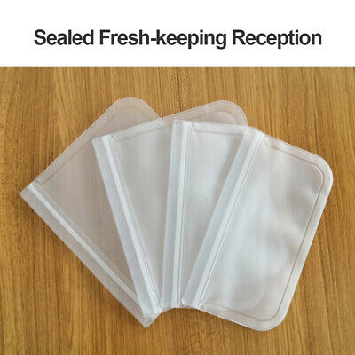 Food Storage Reusable Container Silicone Seal Fresh Bag Kitchen Leakproof  Pouch