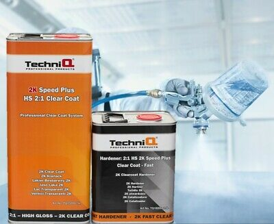 HS Clear Coat Lacquer Kit 5L+2.5L Fast Hardener 7.5L Low VOC Not MS Max Mayer